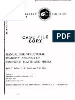 Nasa.cr-1457 Manual for Structural Stability Analysis of Sandwitch Plates and Shells
