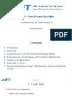 R56 Fundamentals of Credit Analysis