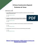 OSHA 10-Horas Construcción (Espanol) - Examen de Temas