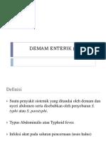 DEMAM ENTERIK (TIFOID)