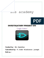 JUDE Physics Investigatory Project on Logic Gates