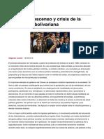 Descenso y crisis de la revolución bolivariana
