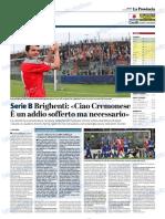 La Provincia Di Cremona 05-01-2019 - Serie B