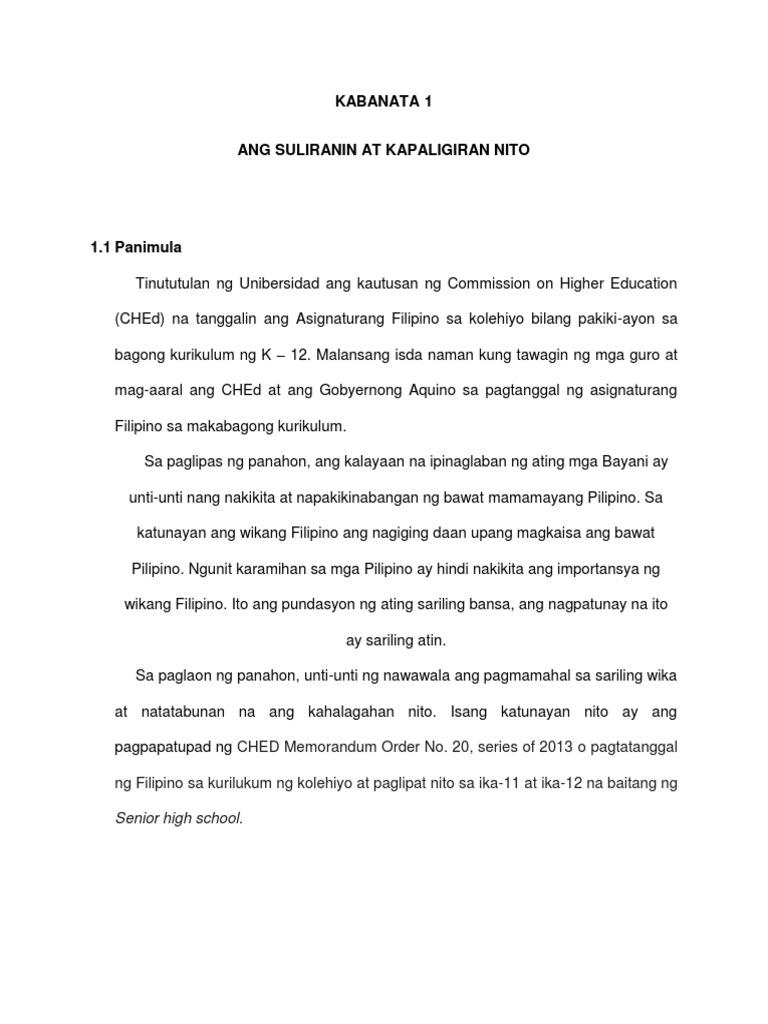 ang kahalagahan ng wikang filipino essay