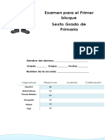 Examen 6to Grado