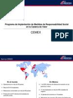 CEMEX. Medidas de RSE en La Cadena de Valor