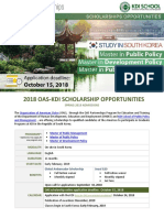 Announcement OAS KDI Sping 2019