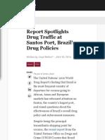 Report Spotlights Drug Traffic at Santos Port, Brazil's Drug Policies