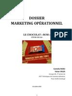 Étude Cas Marketing Opérationnel - Le chocolat ROM