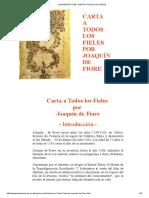 Joaquín de Fiore, Carta a Todos Los Fieles