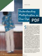 Understanding Multiplication as One Operation
