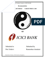 Report on Fundamental and Technical Analysis of ICICI BANK SHARE