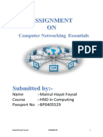 Assignment Networking No 1