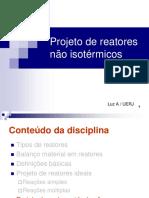 7-Projeto de Reatores Não Isotérmicos