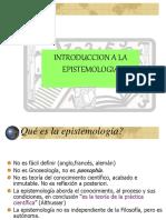 INTRODUCCIÓN A LA EPISTEMOLOGIA
