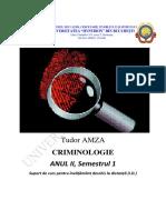 Tudor Amza Criminologie Anul II, Semestrul 1