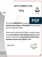 SHUBHAM TRIPATHI Participant Certificate