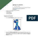 Megaman III Solitario Reglas
