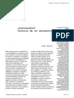 Sostenible. Cronica de Un Encuentro. Iñaki Ábalos