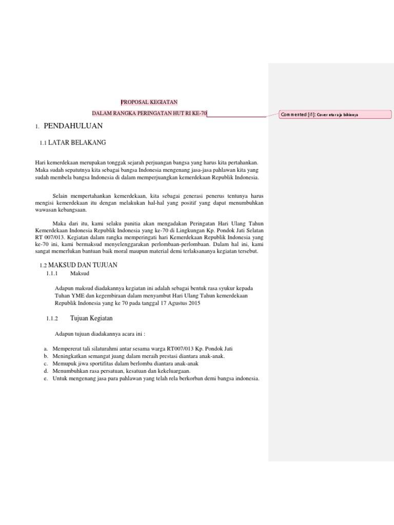 Contoh Proposal 17san