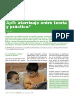 Aprendizaje Servicio. Entre la teoría y la práctica