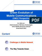 Green Evolution of Mobile Communications