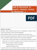 Lecția 10.1-Previziune În Domeniul Logistic - 1