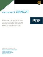 Escala GENCAT_ Manual de Aplicación de La Escala GENCAT de Calidad de Vida