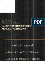 L.1 an Introduction to Research