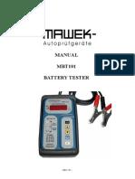 Ba Battery Tester Mbt 101 En