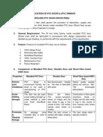 Specification for PVC Door & UPVC_Window(1)