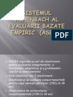 Sistemul Achenbach Al Evaluarii Bazate Empiric (ASEBA)