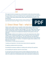 See Direct Shear Testing