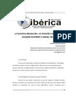 A FILOSOFIA BRASILEIRA - AS POSIÇÕES DE ANTÔNIO JOAQUIM SEVERINO E MIGUEL REALE.pdf