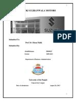 216848051 Internship Report on Suzuki multan Motors
