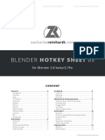 blender hotkeys