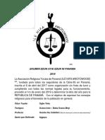 """Letra 2019 Asociación Religiosa Yoruba de Panama """"Ile Nifa Awotuwoosi"""""""