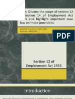 Section 12 & 14 Employment Act 1955