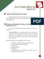 Modulo 3 El Nuevo Regimen Del Servicio Civil