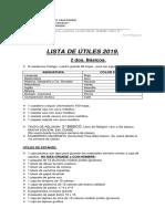 Utiles Escolares 2019 - 2 Bsico