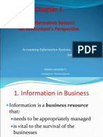 Ch01 the Information Sys (Accountant's Perspective)