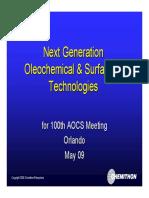 Next Generation Oleo & Surfactant