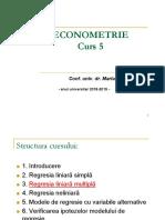 Curs5 Econometrie Regresia