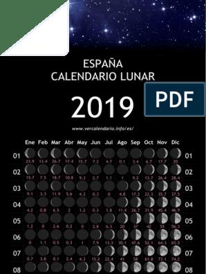 Calendario Lunar 2019 Espana.Espana Ano Calendario 2019 Pdf