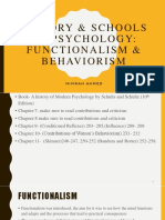 History & Schools of Psychology- Functionalism and Behaviorism