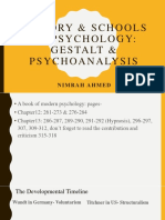 History & Schools of Psychology- Gestalt and Psychoanalysis