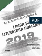 Evaluare Nationala Romana 2019
