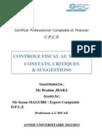 Mémoire ISCAE - Le control fiscal au maroc.pdf