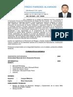 CV Josue Paredes Alvarado EHSQ