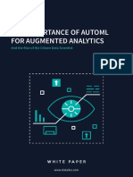 Importance of AutoML for Augmented Analytics